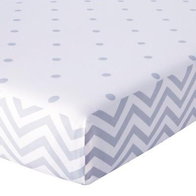 Circo™ Duo-Print Fitted Crib Sheet - Zigs n' Zags