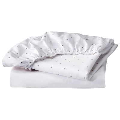 Circo® 2pk Bassinet Sheet - White & Gray