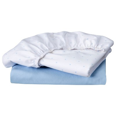 Circo® 2pk Bassinet Sheet - Light Blue