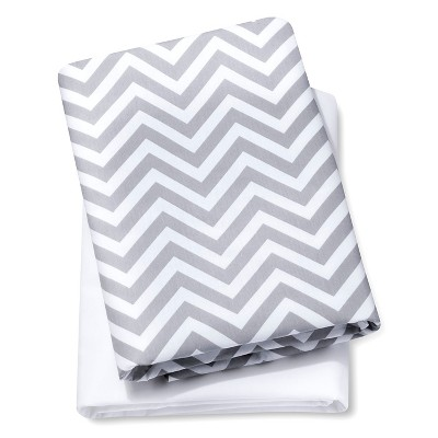 Circo® 2pk Play Yard Sheets - White/Gray Chevron