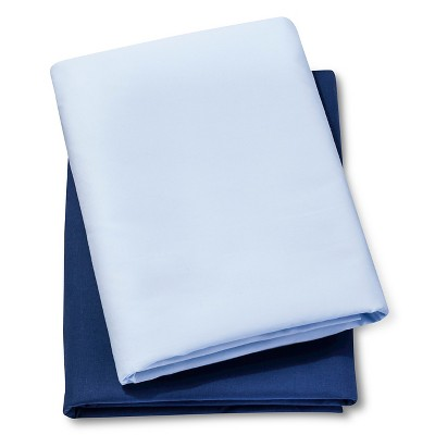 Circo® 2pk Play Yard Sheets - Light Blue/Navy