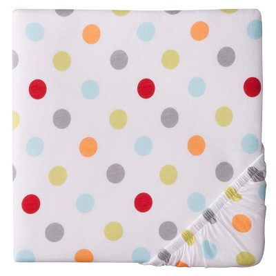 Circo™ Woven Fitted Crib Sheet - Bright Dot