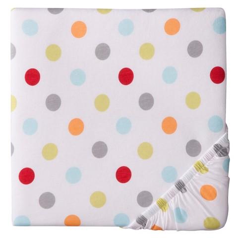 Circo™ Woven Fitted Crib Sheet - Bright Dot