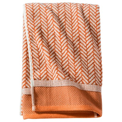 Threshold™ Herringbone Bath Towel - Coral