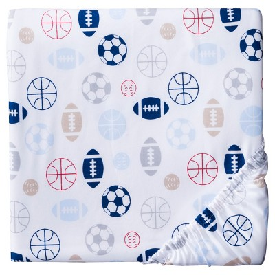 Woven Fitted Crib Sheet - Sports - Circo™