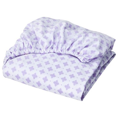 Circo™ Woven Fitted Crib Sheet - Shy Lavender