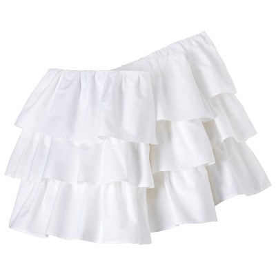 Circo™ Ruffled Crib Skirt - White
