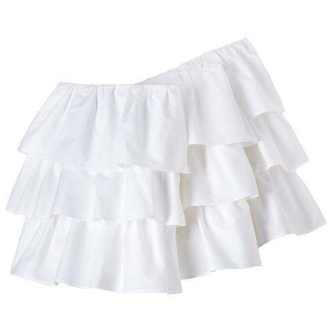 Circo® Triple Ruffle Solid Crib Skirt