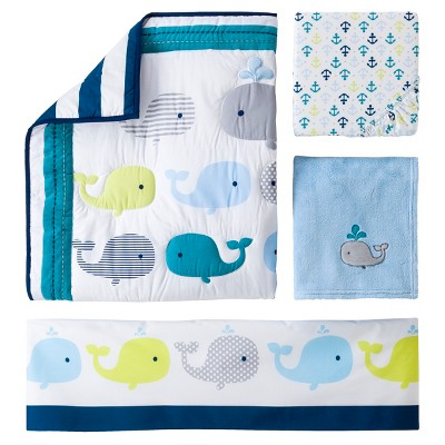 Circo™ 4pc Crib Bedding Set - Whales 'n Waves