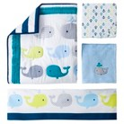 Circo® 4pc Crib Bedding Set - Whales 'n Waves