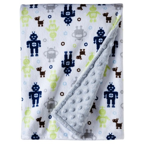 Circo® Soft Valboa Popcorn Blanket - Robots