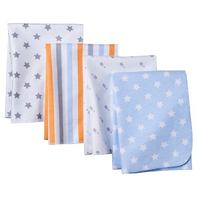 Circo® 4pk Flannel Receiving Blankets - Little Stars