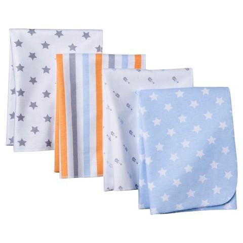 Circo® 4pk Flannel Receiving Blankets - Stars