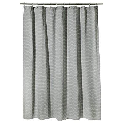 Threshold™ Chevron Shower Curtain - Gray