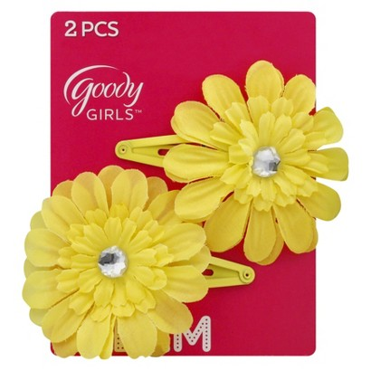 Goody® Girls' Daisy Hair Clips 2Ct - Yellow