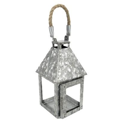 Threshold™ Galvanized Steel Lantern with Rope Handle