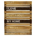 Wood and Metal Planks Wall Hanging - What I Love