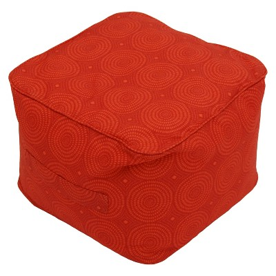 TH Fabric Pouf Orange Circles