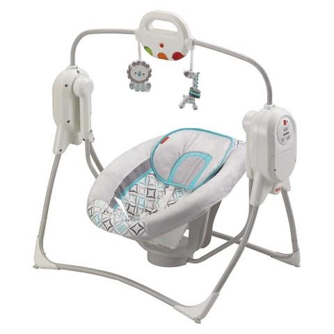 Fisher-Price Twinkling Lights SpaceSaver Cradle 'n Swing