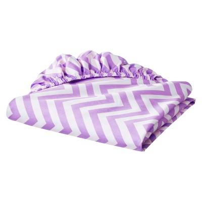 Circo® Woven Fitted Crib Sheet - Chevron - Lavender
