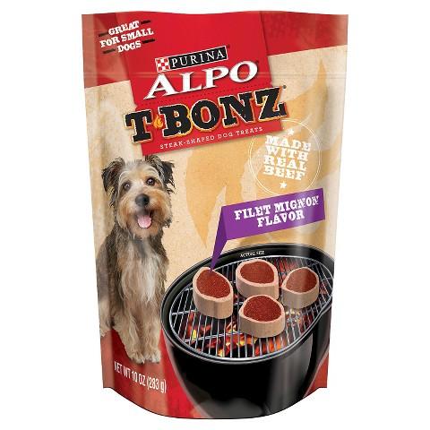 Purina ALPO T-Bonz Filet Mignon Flavor Steak-Shaped Dog Treats 10 oz. Bag