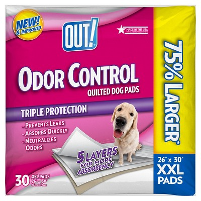 OUT! PetCare Go Here Oversized Dog Pads 30 ct