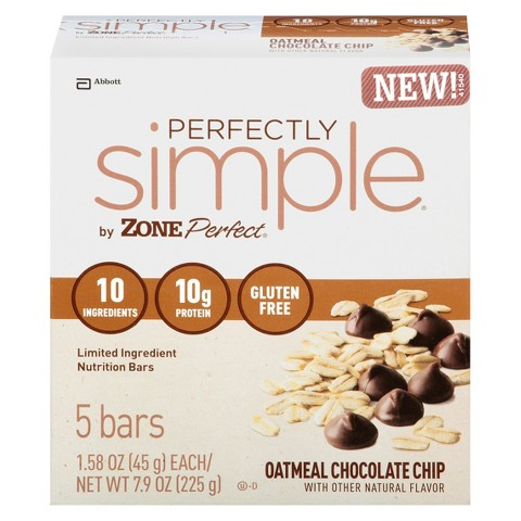 ZonePerfect® Perfectly Simple  Chocolate Chip Oatmeal Nutrition Bars - 5 Count