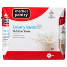 Market Pantry Creamy Vanilla Regular Calorie Nutrition Shake - 6 Count
