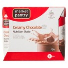 Market Pantry Creamy Chocolate Regular Calorie Nutrition Shake - 6 Count