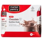 Market Pantry Creamy Chocolate Plus Calorie Nutrition Shake - 6 Count