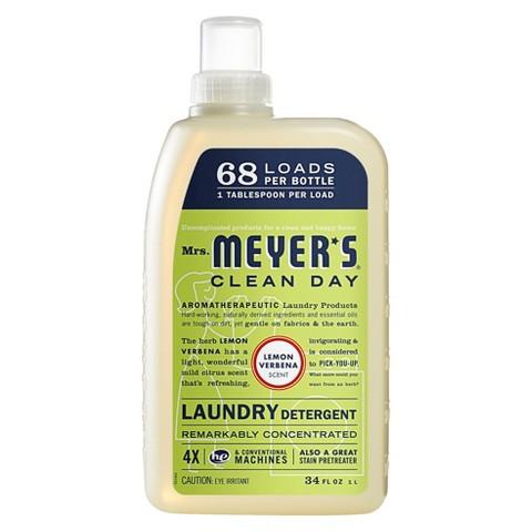 Mrs. Meyer's Lemon Verbena Scented Laundry Detergent 34 oz
