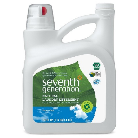 Seventh Generation Free and Clear Natural Laundry Detergent 150 oz