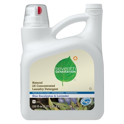 Seventh Generation Blue Eucalyptus & Lavender Natural Laundry Detergent 150 oz