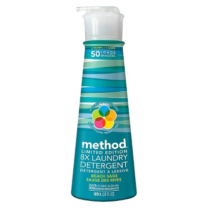 Method Laundry Detergent Limited Edition Beach Sage 50 Loads 20 oz