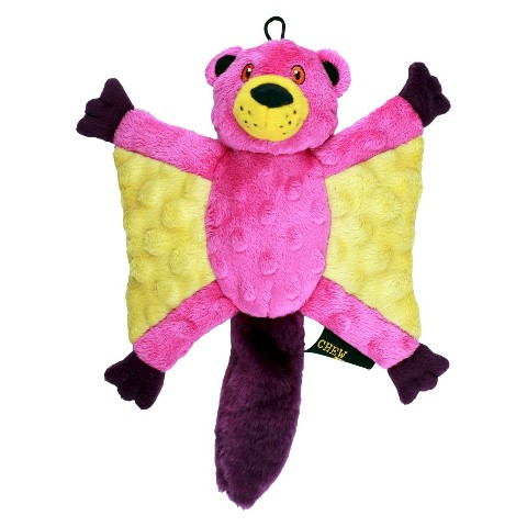 Chew Tuff Flying Squirrel Dog Toy - Assorted Colors (Large)