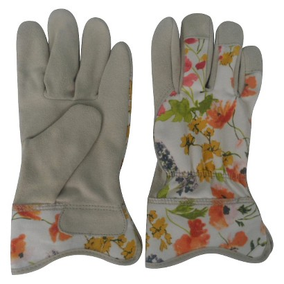 Thr Split Leather Gloves- Floral