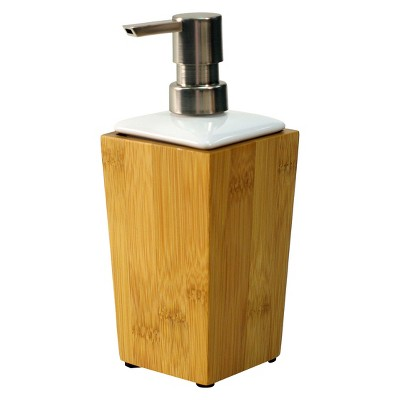 Threshold Soap Pump Bamboo/Ceramic Tl