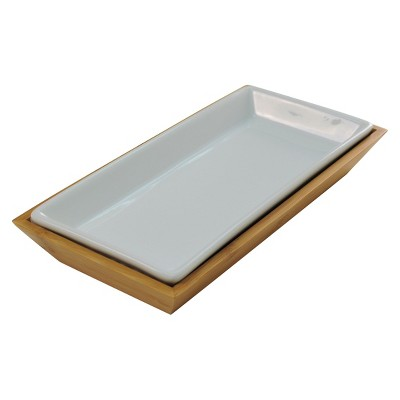 Threshold Tray Bamboo Ceramic