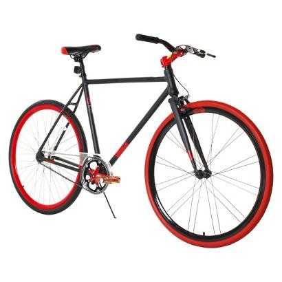 "Fix-D 700C Aluminum Frame Road Bike - Black/Red (28"")"