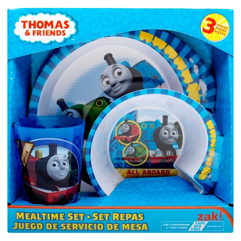 Zak Designs® 3 Piece Thomas The Train Dinnerware Set
