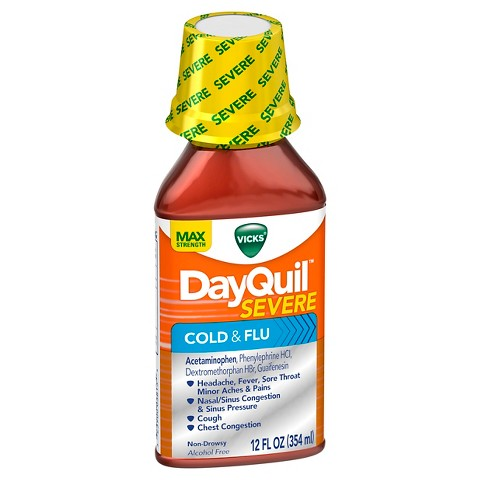 Vicks DayQuil Severe Cold & Flu Relief Liquid - 12 fl oz