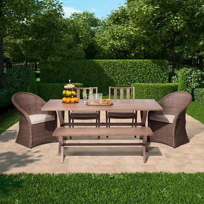 Threshold Holden Metal Wicker Patio Dining Furn Target