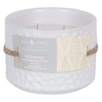 Pure and Natural Brazilian Palm 11 Oz Candle