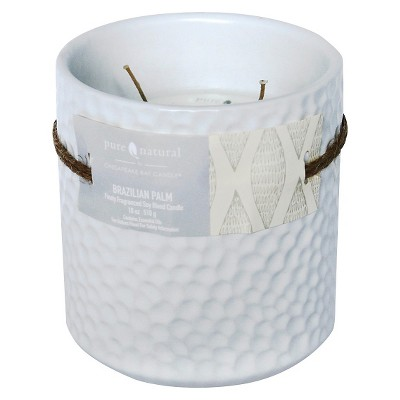 Pure and Natural Brazilian Palm 18 Oz Candle