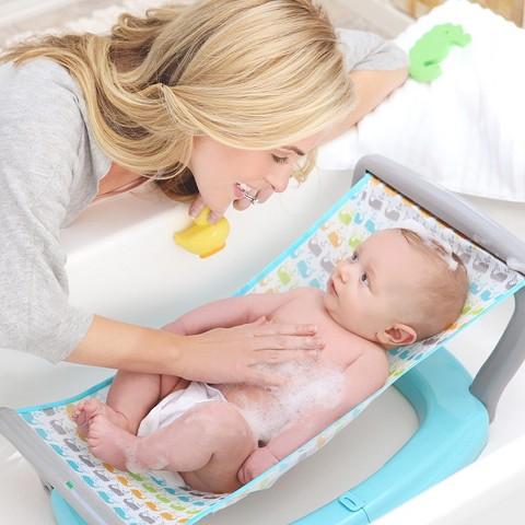 baby 39 s journey baby bath hammock whale march target. Black Bedroom Furniture Sets. Home Design Ideas