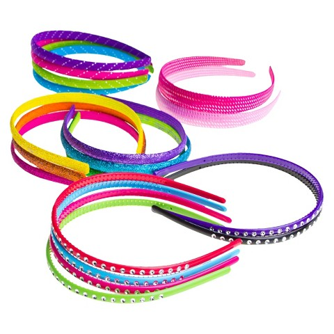 Gimme Clips Glimmer Glitter Style Headbands - 18 Count
