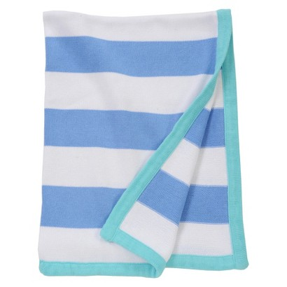 Sumersault Mix & Match Blue/White Stripe Blanket
