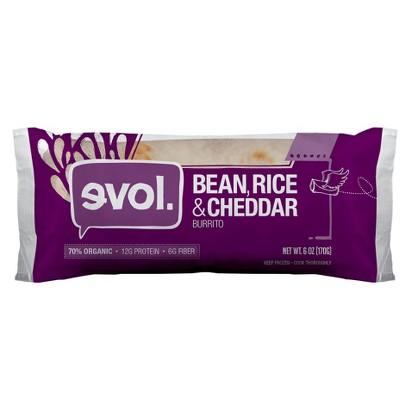 Evol Bean, Rice and Cheddars Burrito - 6 oz (891627002559)