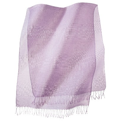 Metallic Sheer Scarf - Purple