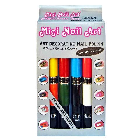 Migi Nail Art Decorating Nail Polish - 8 pc - Cool Matte